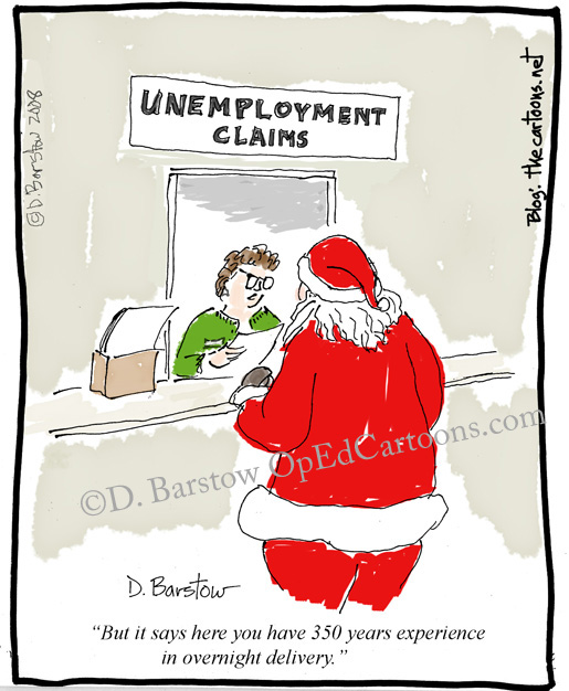 Santa is unemployed, and may need anti-depressants