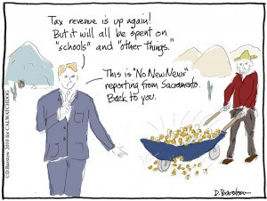 tax revenue cartoon in California