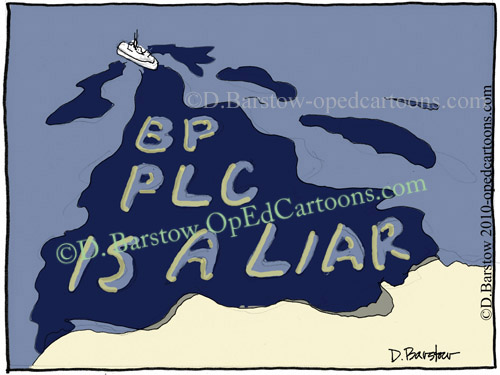 bp plc oil spill cartoon