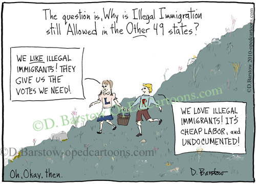 conservative cartoon on illegal immigration