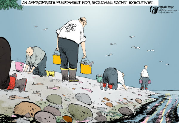 cameron cardow cartoon on bp oil spill and goldman sachs