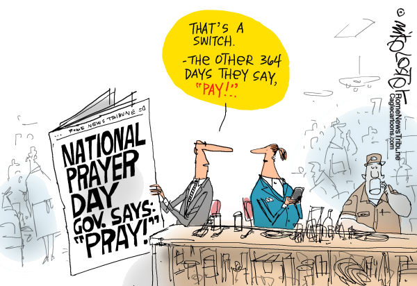 mike lester cartoon on national prayer day