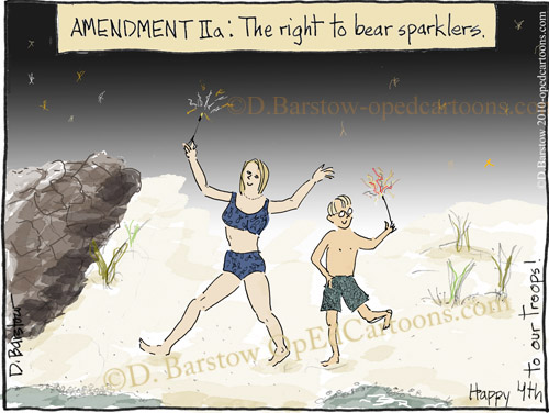 2nd amendment cartoon on the 4th of July