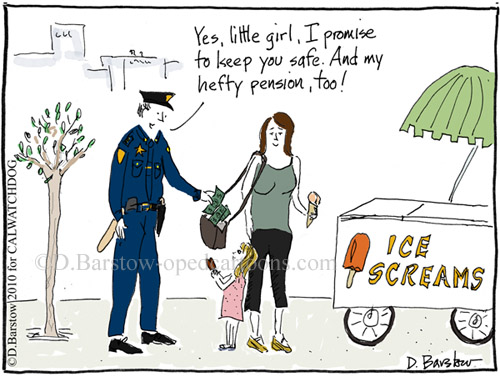 police pension cartoon