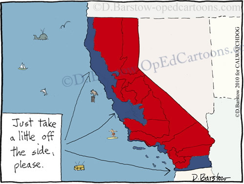 shave the blue off of California