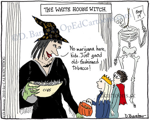 white house witch cartoon