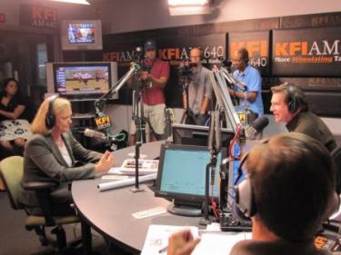 meg whitman on kfi - thanks SFgate for photo