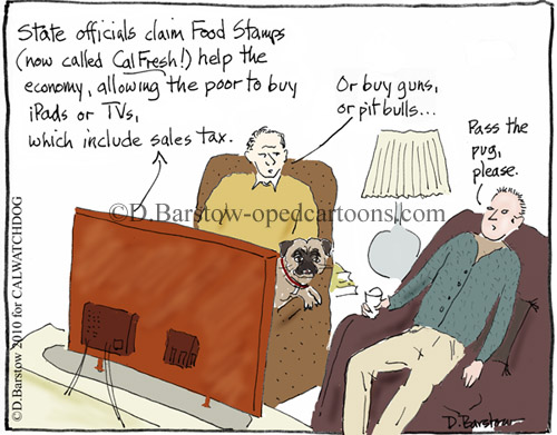 food stamps cartoon by d. barstow