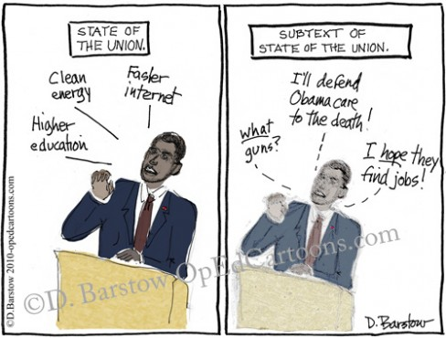 bama cartoon on sotu address[/caption]