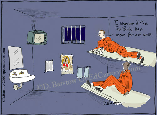prisoner wonders if the tea party would let him join