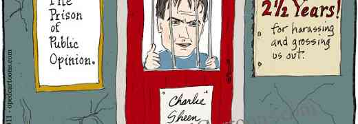 Charlie Sheen cartoon.