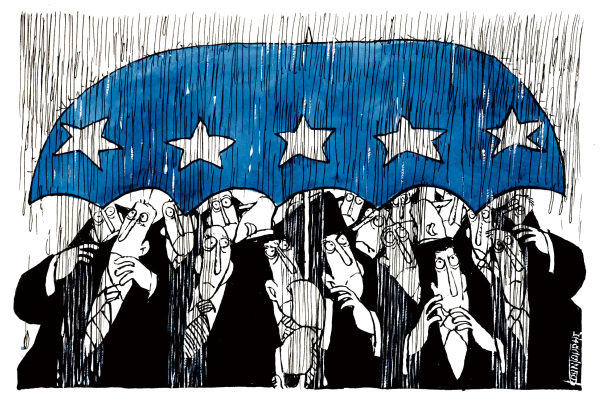 michael kountouris cartoon of european politics